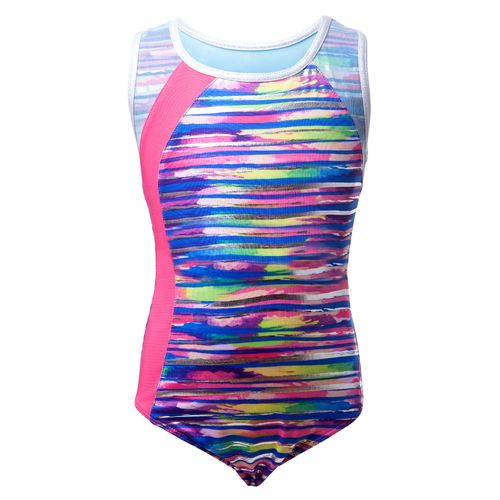 Capezio Girls' Future Star Printed Wet N' Wild Brushstrokes Leotard with Racerback
