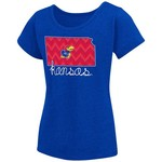 Colosseum Athletics™ Girls' University of Kansas Tissue 2017 T-shirt - view number 1