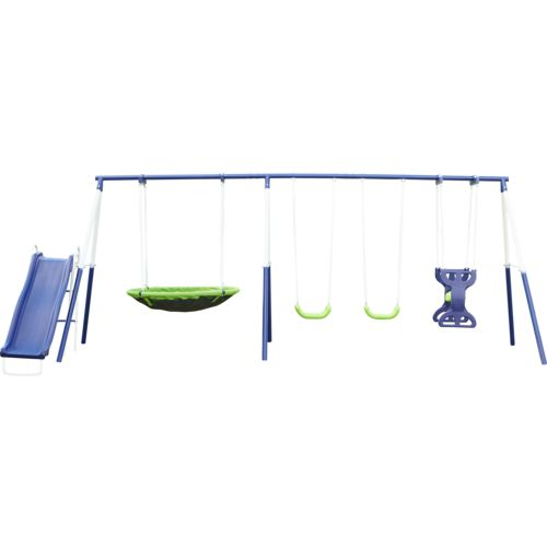 Display product reviews for Agame Rosemead 7-Station Swing Set