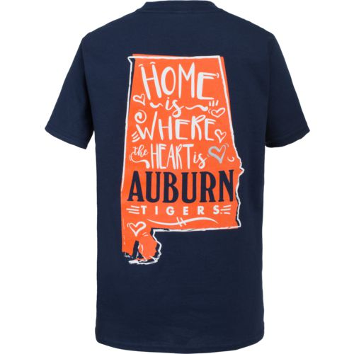 New World Graphics Girls' Auburn University Where the Heart Is T-shirt
