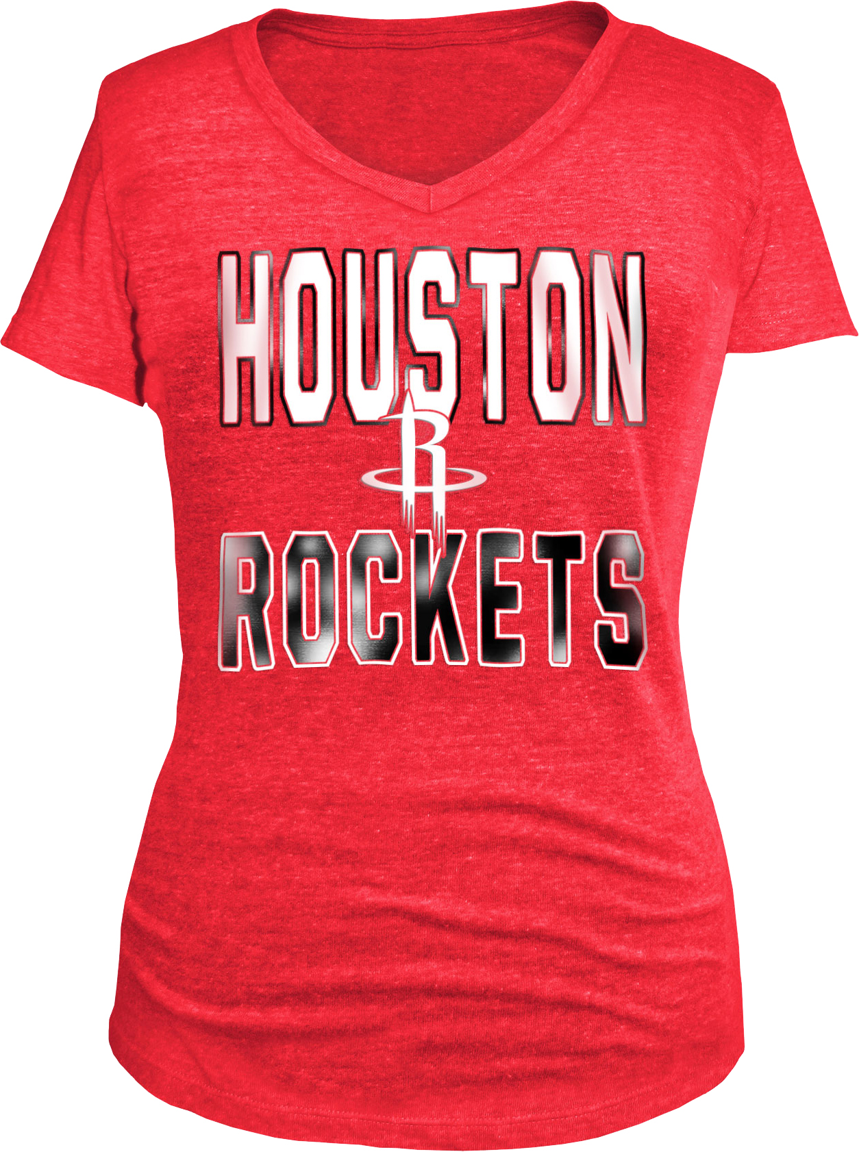 5th & Ocean Clothing Women's Houston Rockets Stacked Foil T-shirt