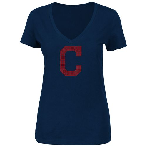 Majestic Women's Cleveland Indians Dream of Diamonds V-neck T-shirt - view number 1