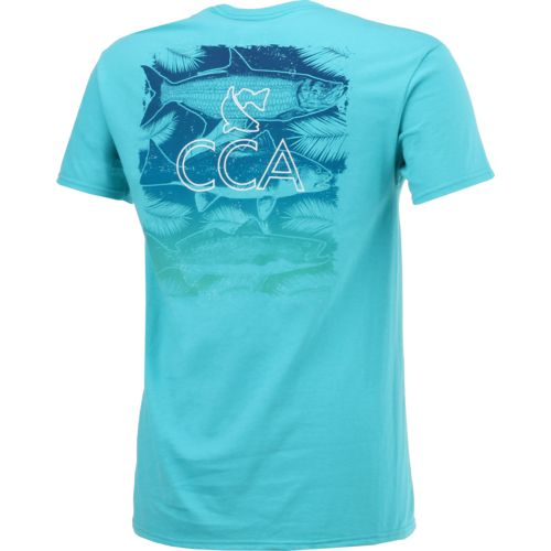 CCA Men's 3 Fish Palm T-shirt - view number 2