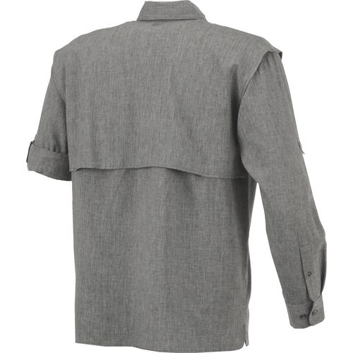 Magellan Outdoors Men's Aransas Pass Heather Long Sleeve Fishing Shirt - view number 2