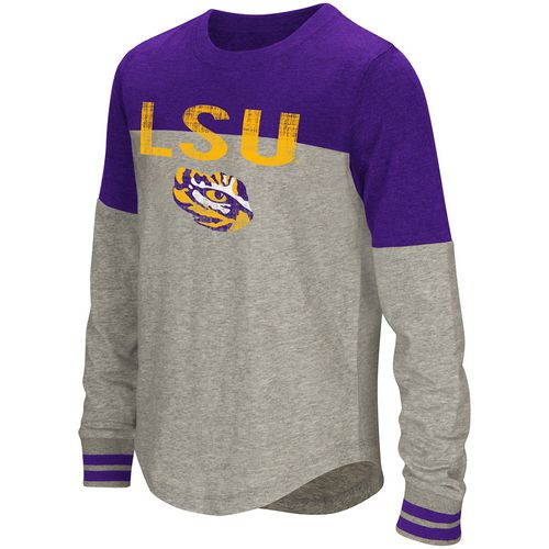 Colosseum Athletics Girls' Louisiana State University Baton Long Sleeve T-shirt