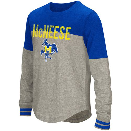 Colosseum Athletics Girls' McNeese State University Baton Long Sleeve T-shirt
