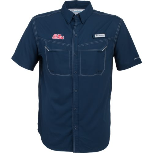 Columbia Sportswear Men's University of Mississippi Low Drag Offshore Short Sleeve Shirt - view number 1