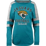 5th & Ocean Clothing Women's Jacksonville Jaguars Space Dye Long Sleeve Fan Top - view number 1