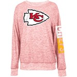 5th & Ocean Clothing Women's Kansas City Chiefs Space Dye Logo Sweater Knit Pullover - view number 1