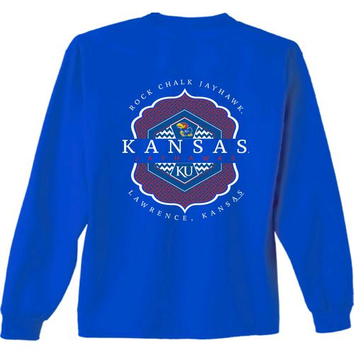 New World Graphics Women's University of Kansas Faux Pocket T-shirt