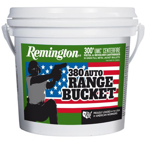 Remington UMC P&R Range Bucket .380 Auto 95-Grain Ammunition