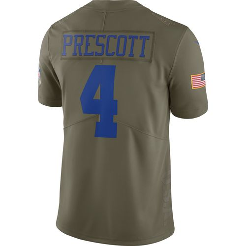 Nike Men's Dallas Cowboys Dak Prescott Salute to Service Jersey