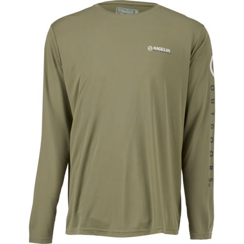 Magellan Outdoors Men's Casting Crew Moisture Management Long Sleeve Shirt