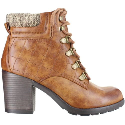 MIA Shoes Women's Teddy Combat Boots