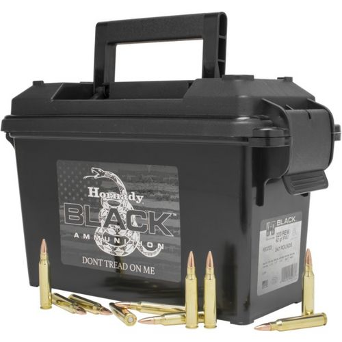 Hornady Black FMJ .223 Remington 62-Grain Centerfire Rifle Ammunition