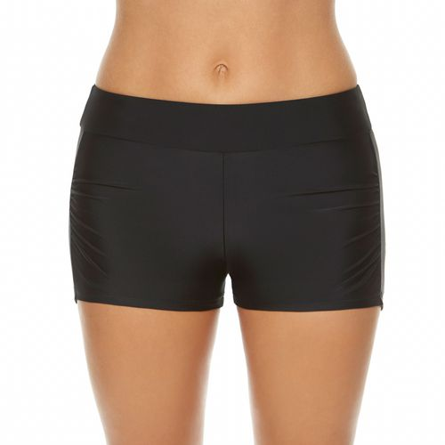 BCG Women's Solid Shirred Swim Short