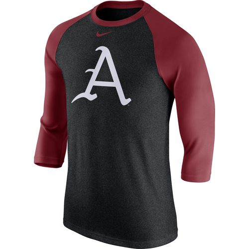 Nike Men's University of Arkansas Triblend Logo Raglan T-shirt