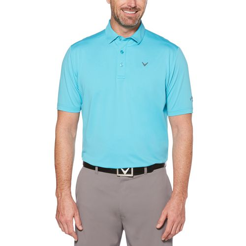 Callaway Men's Cooling Solid Micro Hex Polo Shirt