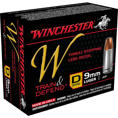 Display product reviews for Winchester Train and Defend 9mm Luger 147-Grain Centerfire JHP Pistol Ammunition