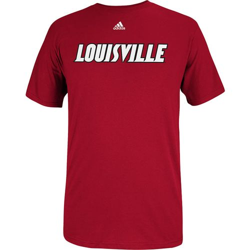 adidas™ Men's University of Louisville Team Font T-shirt