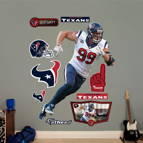 Fathead Houston Texans J.J. Watt #99 Team and Player Decals 10-Pack