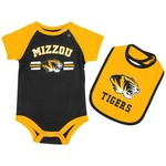 Colosseum Athletics Infants' University of Missouri Dribble Onesie and Bib Set