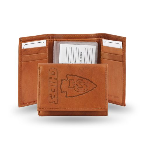 Rico Kansas City Chiefs Embossed Trifold Leather Wallet