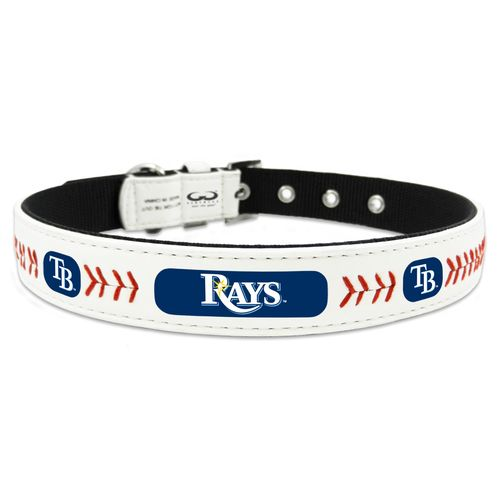 GameWear Tampa Bay Rays Classic Leather Large Baseball Dog Collar