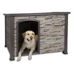 Precision Pet Products Woodstone Log Cabin Doghouse