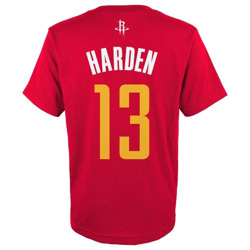 adidas™ Boys' Houston Rockets James Harden #13 Flat T-shirt