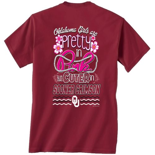 New World Graphics Women's University of Oklahoma Cuter in Team T-shirt