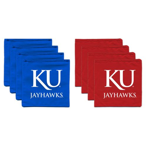 BAGGO® University of Kansas 9.5 oz. Replacement Beanbag Toss Beanbags 8-Pack