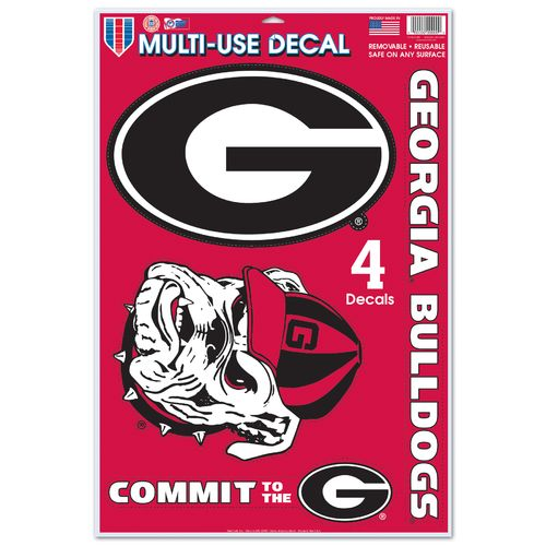 WinCraft University of Georgia Multiuse Decals 4-Pack - view number 1