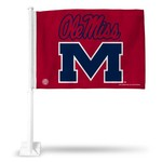Tag Express University of Mississippi Logo Car Flag