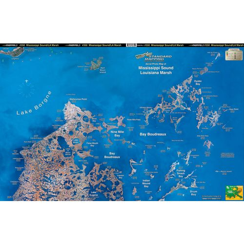 Standard Mapping 350 Louisiana Marsh - Bayou Biloxi Folded Map