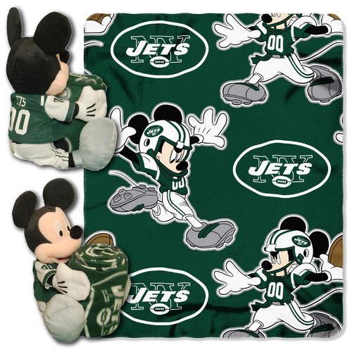 The Northwest Company New York Jets Mickey Mouse Hugger and Fleece Throw Set - view number 1