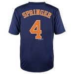 MLB Boys' Houston Astros George Springer #4 Flat Synthetic T-shirt