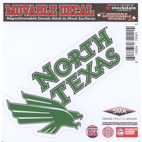 "Stockdale University of North Texas 6"" x 6"" Decal"