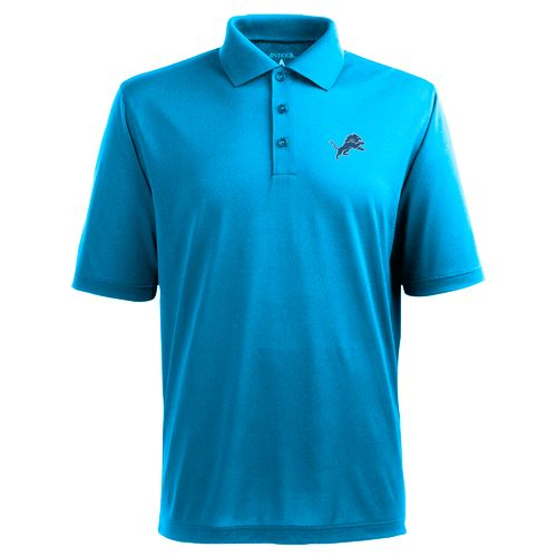 Antigua Men's Detroit Lions Piqué Xtra-Lite Polo Shirt