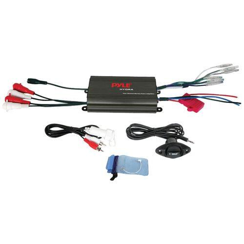 Pyle Hydra Series 4-Channel 800W Waterproof Micro Marine Amp