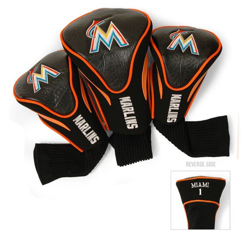 Team Golf Miami Marlins Contour Sock Head Covers 3-Pack