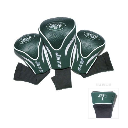 Team Golf New York Jets Contour Sock Head Covers 3-Pack
