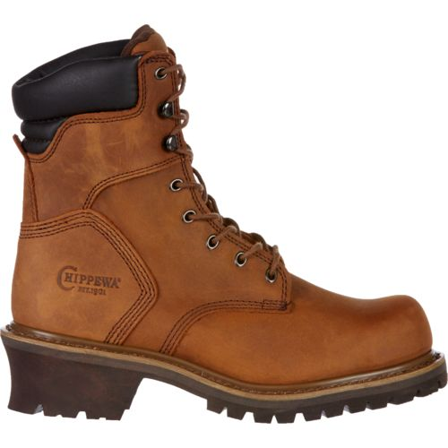 Chippewa Boots Oblique Steel-Toe Logger Rugged Outdoor Boots