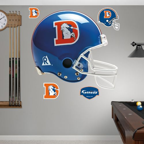 Fathead Denver Broncos Real Big Throwback Helmet Decal