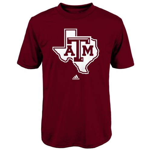 adidas™ Boys' Texas A&M University Logo Clima T-shirt