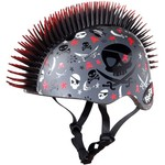 Krash Youth Pirate Skull Mohawk Bicycle Helmet - view number 1