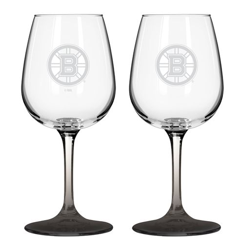 Boelter Brands Boston Bruins 12 oz. Wine Glasses 2-Pack