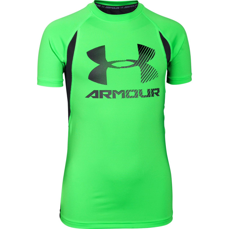 Under Armour® Boys' HeatGear® Armour® Up Digi Short Sleeve Fitted T-shirt