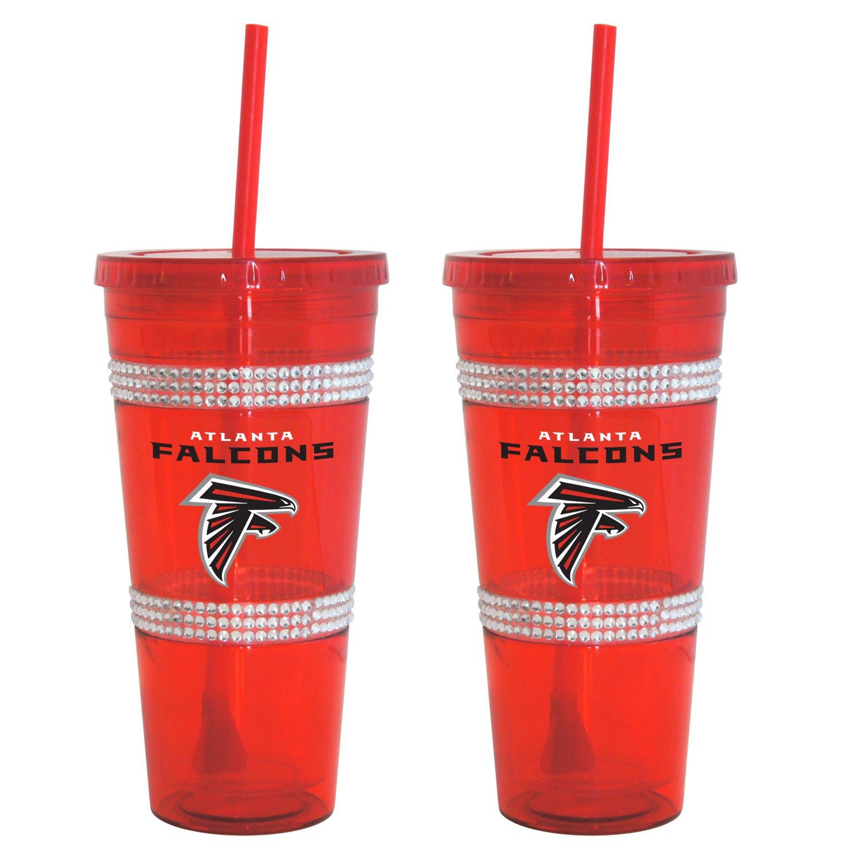 Boelter Brands Atlanta Falcons 22 oz. Bling Straw