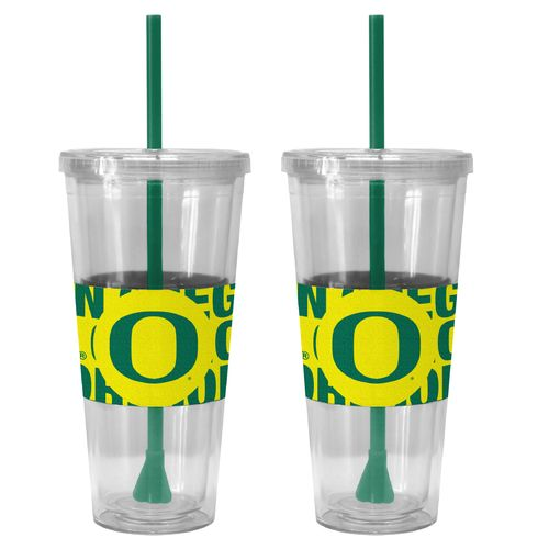 Boelter Brands University of Oregon Bold Neo Sleeve 22 oz. Straw Tumblers 2-Pack